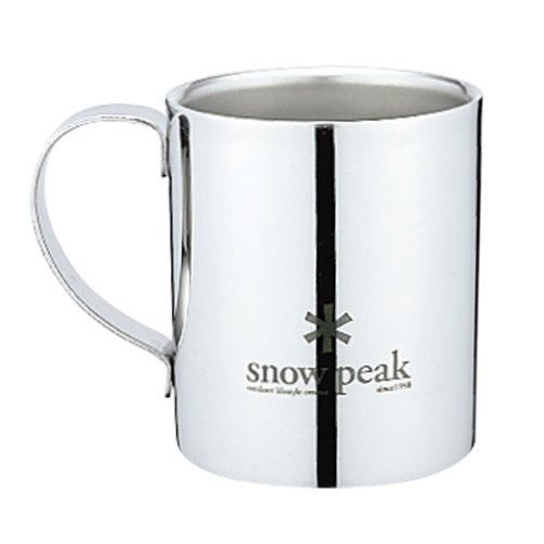snow peak MG-112R STAINLESS DOUBLE 240 MUG from Japan_1