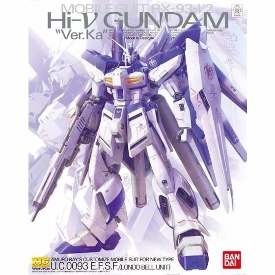 BANDAI MG 1/100 RX-93-v2 Hi Nu GUNDAM Ver Ka Model Kit Char's Counter Attack_1