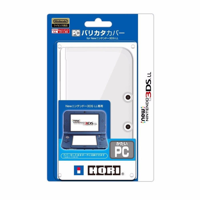 HORI Hard polycarbonate (barikata) Cover for Nintendo New 3DS LL Clear Japan_1