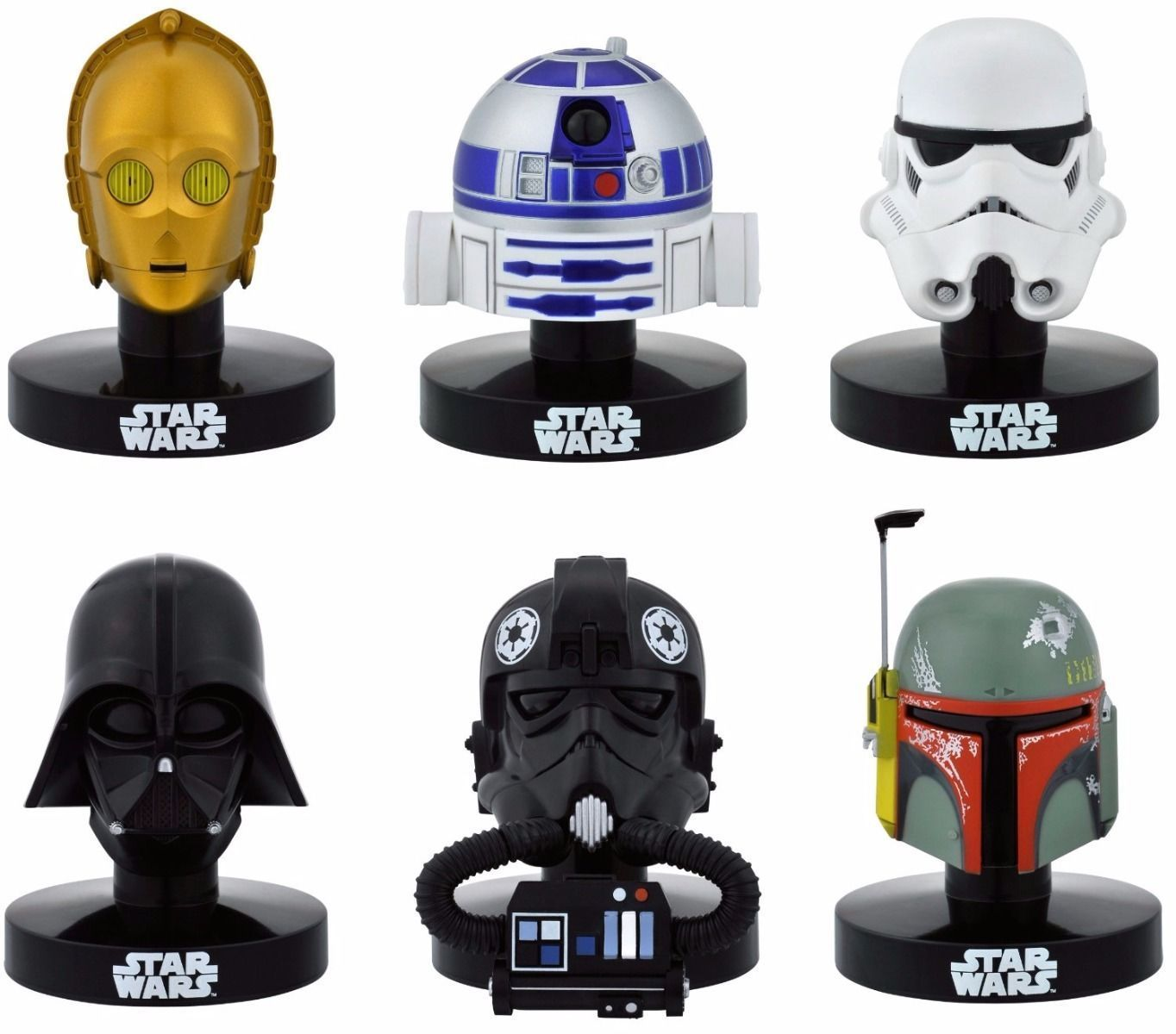 STAR WARS HELMET REPLICA COLLECTION 6 PACKS BOX Figure BANDAI from Japan_1