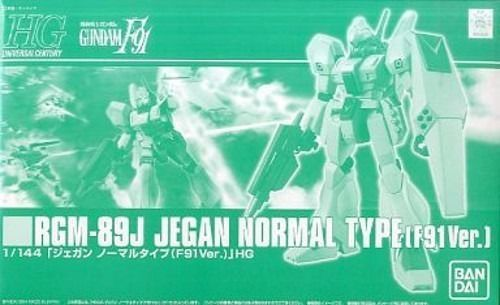 BANDAI HGUC 1/144 RGM-89J JEGAN NORMAL TYPE F91 Ver Plastic Model Kit Gundam F91_1