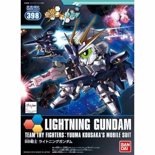 BANDAI SD BB Senshi 398 LIGHTNING GUNDAM MODEL KIT Gundam Build Fighters_1