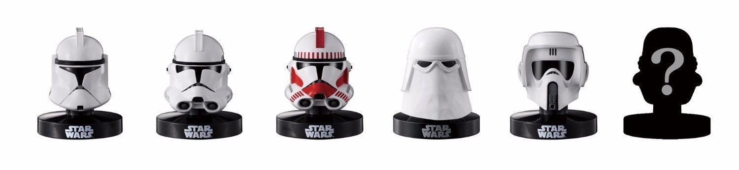 STAR WARS HELMET REPLICA COLLECTION Vol.2 6 PACKS BOX Figure BANDAI from Japan_1