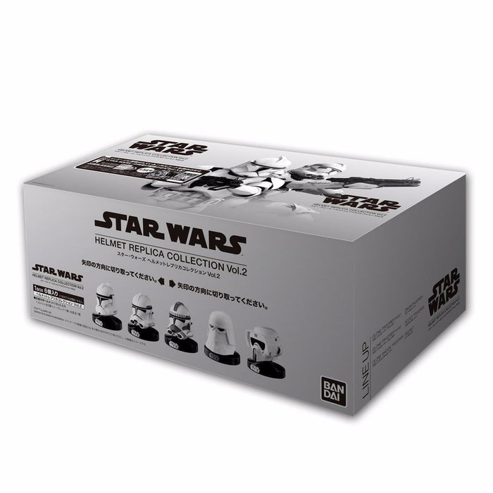 STAR WARS HELMET REPLICA COLLECTION Vol.2 6 PACKS BOX Figure BANDAI from Japan_8