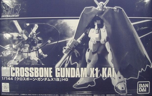 BANDAI HGUC 1/144 CROSSBONE GUNDAM X1 KAI Plastic Model Kit NEW from Japan_1