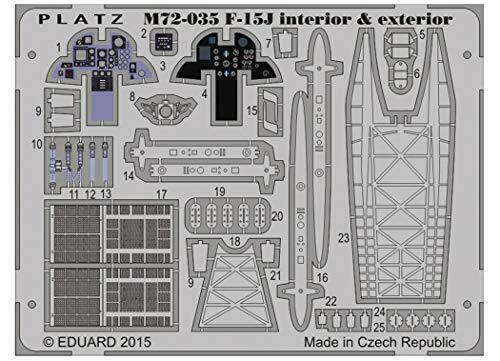 Platz 1/72 Etching Parts for JASDF F-15J Eagle Plastic Model Kit NEW from Japan_1