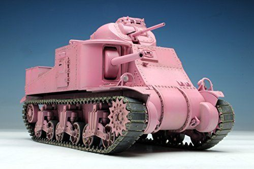 TAMIYA PLATZ 1/35 Girls und Panzer M3 LEE TEAM Usagisan Pink Ver Model Kit NEW_3