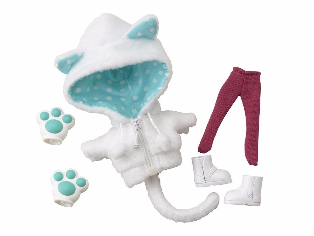 Cu-poche Extra 05w Animal Parka Set (White Cat) Figure Accessories Kotobukiya_1