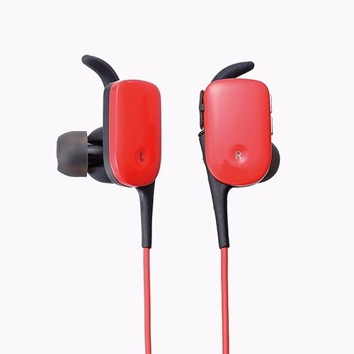 ELECOM LBT-HPC11WP RD Waterproof Bluetooth In-Ear Headset Red NEW from Japan_1