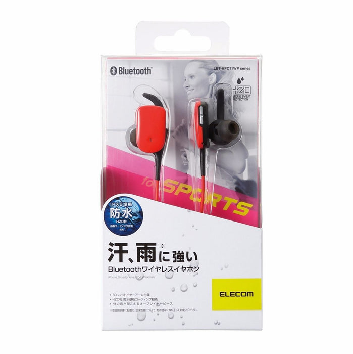 ELECOM LBT-HPC11WP RD Waterproof Bluetooth In-Ear Headset Red NEW from Japan_2
