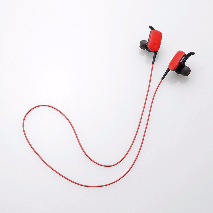 ELECOM LBT-HPC11WP RD Waterproof Bluetooth In-Ear Headset Red NEW from Japan_3