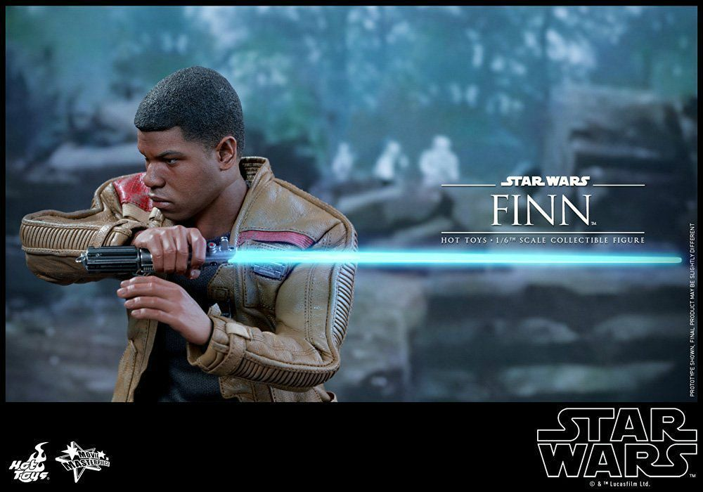 Movie Masterpiece Star Wars The Force Awakens FINN1/6 Action Figure Hot Toys NEW_4