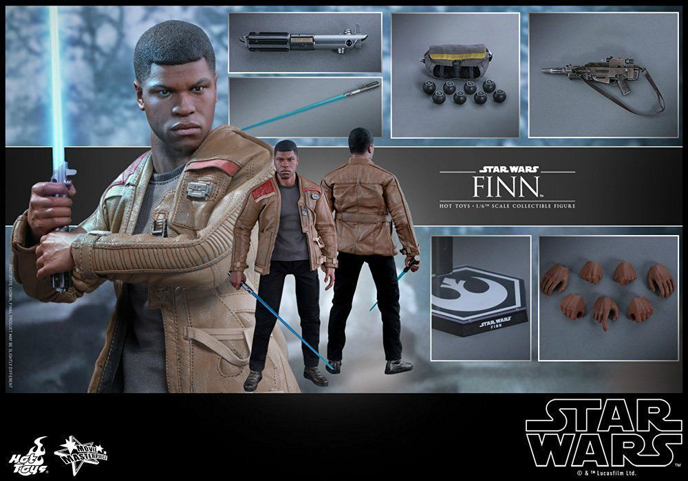 Movie Masterpiece Star Wars The Force Awakens FINN1/6 Action Figure Hot Toys NEW_7