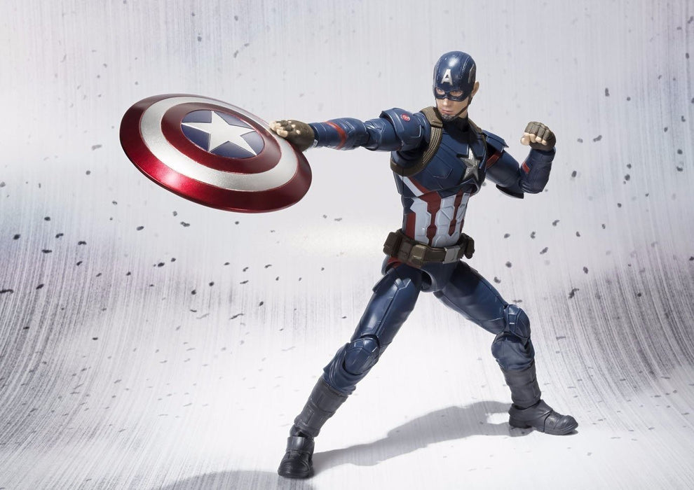 S.H.Figuarts CAPTAIN AMERICA CIVIL WAR Ver Action Figure BANDAI NEW from Japan_9