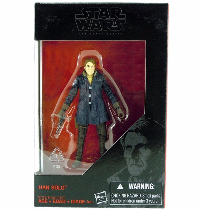STAR WARS The Force Awakens BLACK Series BASIC FIGURE HAN SOLO TAKARA TOMY NEW_2