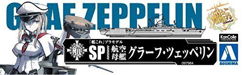 Kanmusu KanColle Aircraft Carrier Graf Zeppelin 1/720 Plastic Model Kit NEW_8