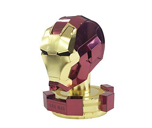 Tenyo Metallic Nano Puzzle Marvel Avengers IRON MAN HELMET Model Kit NEW_1