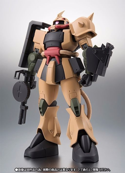 ROBOT SPRITS SIDE MS MS-06D ZAKU DESERT TYPE Ver A.N.I.M.E. Figure BANDAI NEW_1