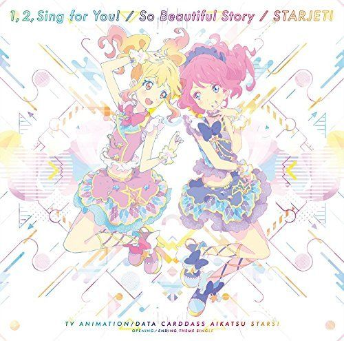[CD] Aikatsu Stars! OP/ED :1,2,Sing for You! / So Beautiful Story NEW from Japan_1