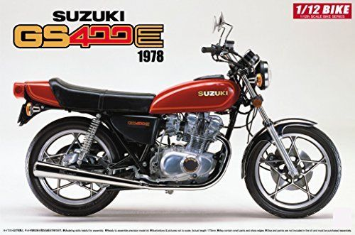 Aoshima 1/12 BIKE Suzuki GS400E Plastic Model Kit from Japan NEW_1