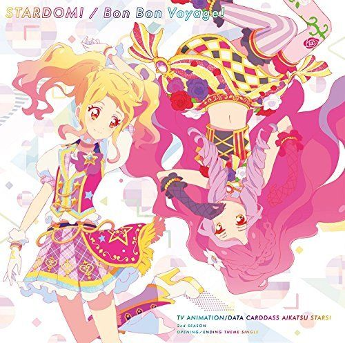 [CD] Aikatsu Stars! 2nd Season OP/ED Theme Songs: STARDOM! /Bon Bon Voyage! NEW_1