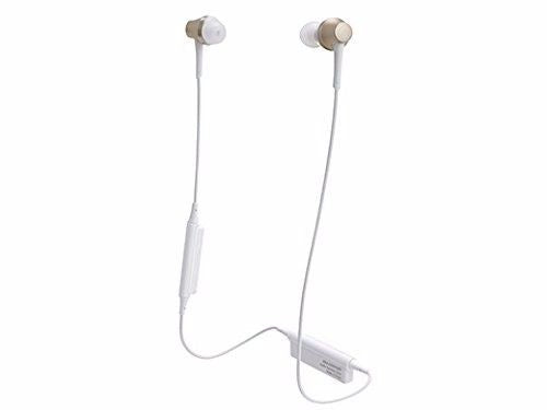 audio technica ATH-CKR75BT Bluetooth In-Ear Headphones w/Mic Champagne Gold NEW_1