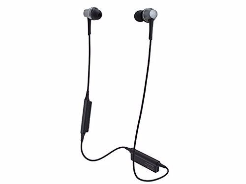 audio technica ATH-CKR75BT Bluetooth In-Ear Headphones w/Mic Gun Metallic NEW_1