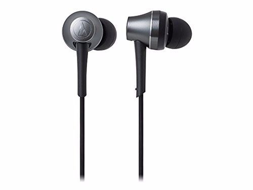 audio technica ATH-CKR75BT Bluetooth In-Ear Headphones w/Mic Gun Metallic NEW_2