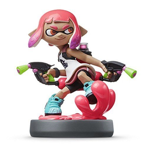 Nintendo amiibo Splatoon Inkling GIRL Neon Pink 3DS Wii U Accessories NEW Japan_1
