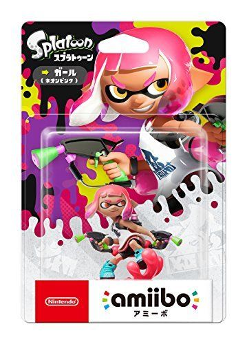 Nintendo amiibo Splatoon Inkling GIRL Neon Pink 3DS Wii U Accessories NEW Japan_2