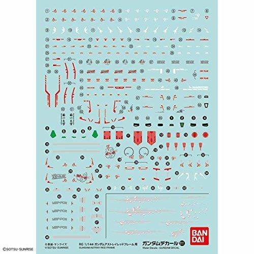 BANDAI GUNDAM DECAL No.111 for RG 1/144 Gundam Astray Red Frame NEW from Japan_1