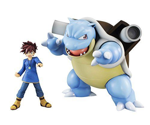 MegaHouse G.E.M. Series Pokemon Shigeru & Blastoise Figure NEW from Japan_1