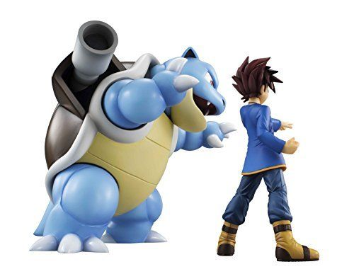 MegaHouse G.E.M. Series Pokemon Shigeru & Blastoise Figure NEW from Japan_2