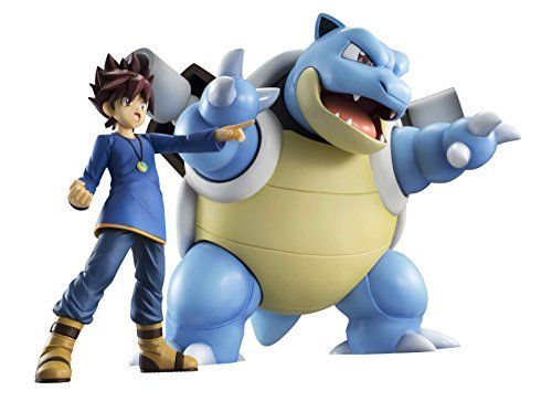 MegaHouse G.E.M. Series Pokemon Shigeru & Blastoise Figure NEW from Japan_4