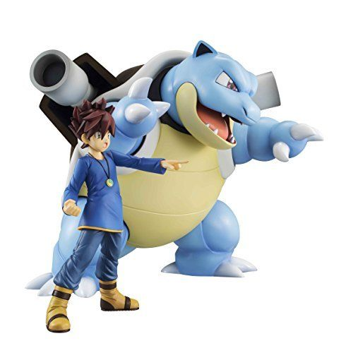 MegaHouse G.E.M. Series Pokemon Shigeru & Blastoise Figure NEW from Japan_6