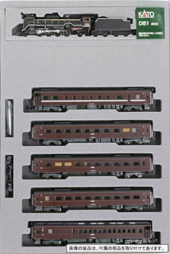 Kato N Scale [Limited Edition] D51 200 + Series 35 SL [Yamaguchi] 6 Car Set NEW_3