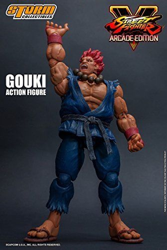 Street Fighter V Action Figure Akuma Gouki Nostalgic Costume Ver. Figure_7