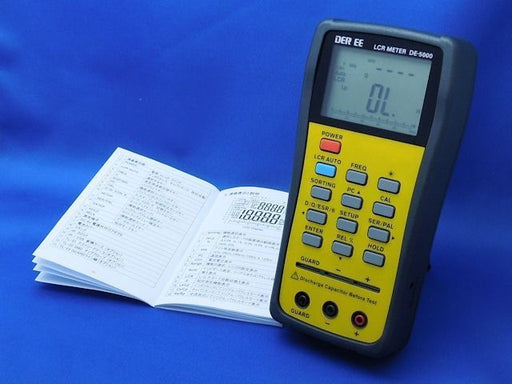 DER EE DE-5000 High Accuracy Handheld LCR Meter with TL-21 TL-22 NEW_1