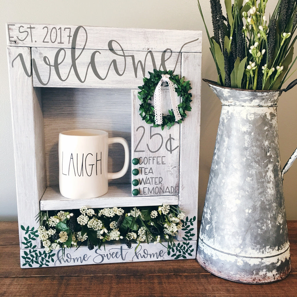 Farmhouse Style Welcome Station