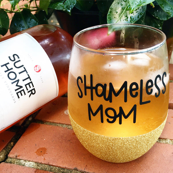 Shameless Mom - Wine Glass
