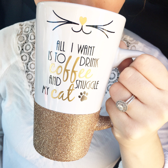 Drink Coffee And Snuggle My Cat - Coffee Mug