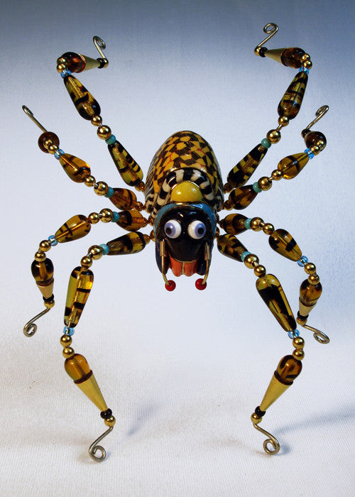 Large Spider Porcelain and mixed media pin