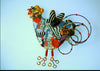 Rooster Multicolor Porcelain and mixed media pin