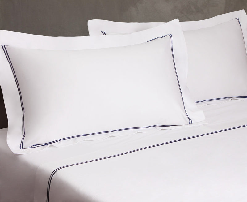 Classico Embroidery Premium Cotton Sheet Set 700TC White