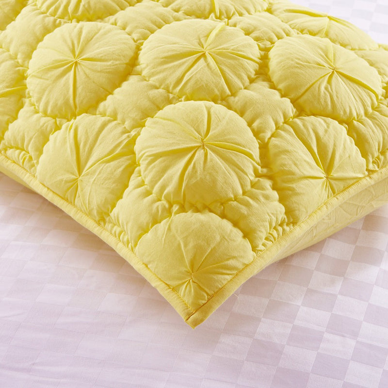 Dream Waltz Luxury Pure Cotton Quilted Lemon Pillow Sham - Calla Angel  - 3
