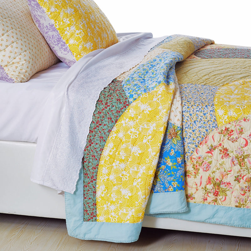 Fairview Patchwork Handmade Pure Cotton Quilt - Calla Angel  - 4