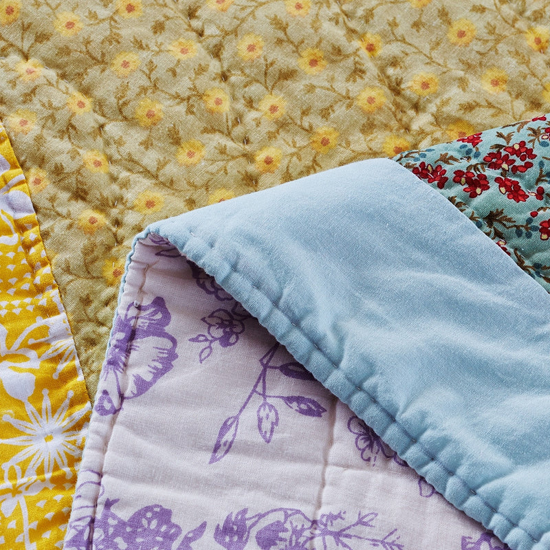 Fairview Patchwork Handmade Pure Cotton Quilt - Calla Angel  - 7