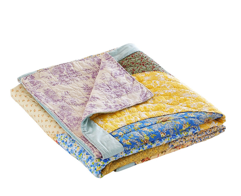 Fairview Patchwork Handmade Pure Cotton Quilt - Calla Angel  - 14