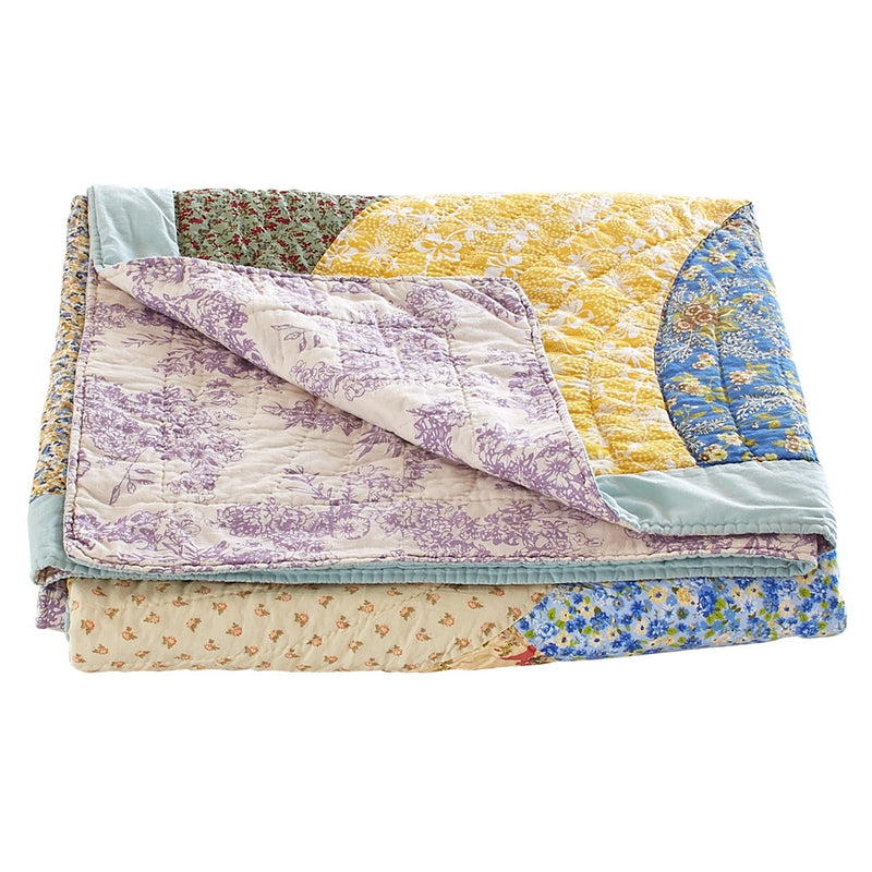 Fairview Patchwork Handmade Pure Cotton Quilt - Calla Angel  - 15