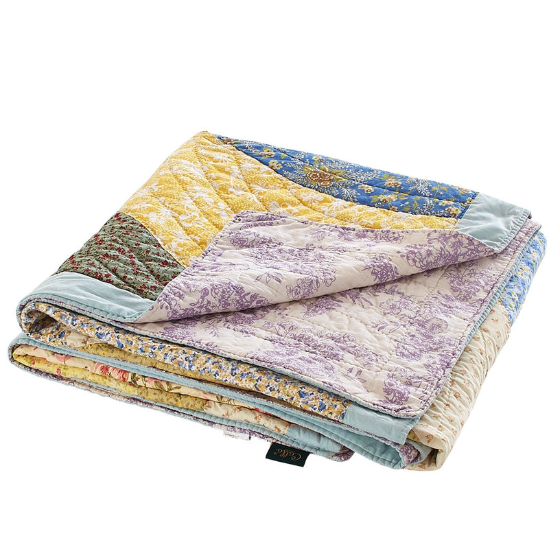 Fairview Patchwork Handmade Pure Cotton Quilt - Calla Angel  - 16